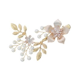 hair vine crystal Australia - Flower Bride Hair Vine Pearl Wedding Combs Tiaras Headband Crystal Bridesmaid Headdress Beads Bridal Headpiece For Women Jewelry