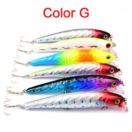$enCountryForm.capitalKeyWord NZ - New 6 Colors Plastic 4# 3 Hooks Minnow Fishing Lure 12cm 15g Big Deep Sea Bass Crankbait Artificial Wobbler