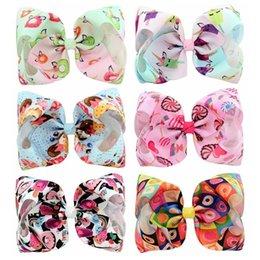 Baby Sequin Hair Clips Wholesale Australia - Love Pink 8 Inches jojo siwa bows baby girl hair barrettes Sequins Mermaid Unicorn Clippers Girls Hair Clips JOJO SIWA Hair Accessories