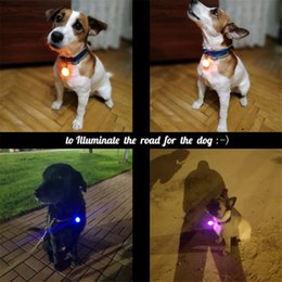 dog flashlight Australia - Wholesale Pet Night Safety LED Flashlight Collar Dog Guide Lights Glowing Pendant Necklace Pet Luminous Bright Glowing Collar NO BATTERY