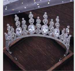 Weddings Hair Styles Australia - Atmospheric Crown Wedding Dress Style Hair Decoration Queen's Crown New Accessories