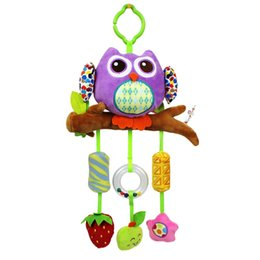 soft animal baby rattles Australia - Hanging Animal Wind Chime Owl Wind Chimes Bell Puppet Toys For Children Baby Soft Rattle Toys Stroller Crib Gift Home Decor Ornament