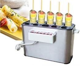 Ticari pişmiş Yumurta Sosis Makinesi Hot dogs pişirme Makinesi Omlet kahvaltı Yumurta Rulo Makinesi Omlet Usta 110 V 220 V AB ABD LLFA
