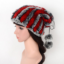 $enCountryForm.capitalKeyWord Australia - Colour Rex Rabbit's Hair Hats Manual Weave Leather And Fur Bright Silk Bobble Hat High Elastic Keep Warm New Gameplay