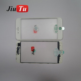 iphone bezel Australia - For iPhone 8G 8 Plus 7G 7 Plus Front Glass With OCA Film Bezel Frame For LCD Repair Fix Jiutu
