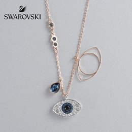 SwarovSki croSSeS online shopping - Swarovski DUO Guardian s Eye Key Style Fashion Exquisite Women s Necklace