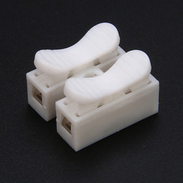 $enCountryForm.capitalKeyWord Australia - 30pcs White Quick Splice Lock Wire Terminals Connectors No Solding Welding Quick 2Pins CH2 Electrical Cable Clamp Terminals