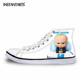 INSTANTARTS Scarpe stringate autunnali in pizzo per uomo Ragazzo adolescente scarpe vulcanizzanti Scarpe animate 3D Boss bambino in vernice classica con tomaia alta # 308052