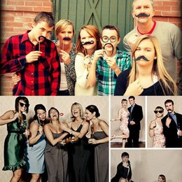mustache stick wedding Canada - Wedding Decoration Photo Booth Prop On Stick New Party Decoration Funny Photo Props Christmas Mustache Birthday Party