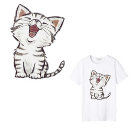 Animal Patches For Clothes Australia - 1 PCS Cat Thermal Transfer Paper Patch Decoration Animal Sticker for Tshirt Iron on Transfers Patch for Clothes Accessory Cartoon