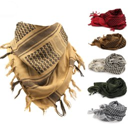 scarf square cotton Australia - Thickened army fan outdoor tactical scarf Arab square towel warm winter scarf men and women cotton turban