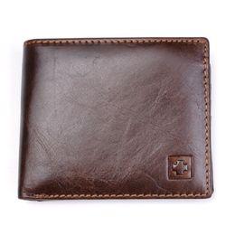 $enCountryForm.capitalKeyWord Australia - 100% Genuine Leather Wallet Men New Brand Purses For Men Black Brown Bifold Wallet Rfid Blocking Wallets With Gift Box Mrf7