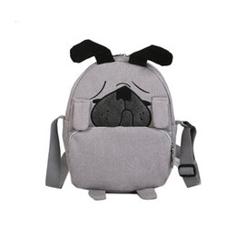 Girl Cartoon Grey Australia - Designer-Cute Cartoon Fashion Fabric Bags Dog Cross Body Bag Messenger Bag For Girls