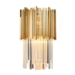 $enCountryForm.capitalKeyWord UK - Modern LED Wall Sconce Light AC110-240V Creative Design Gold Creative Home Decoration Light Fixture Bedside Wall Lamp