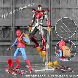 "12 Spiderman Figures Australia - Marvel Spiderman Homecoming 6"" Action Figure Spider Man Holland Avengers Iron Mk47 Mark47 Kos Shf S.h.figuarts Legends Toys Doll Q190604"