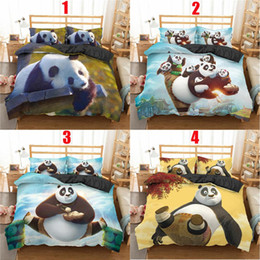Panda bedding sets queen online shopping - ZEIMON d Qun Fu Panda Printed Duvet Cover Set With Pillowcase For Home Decor Animal Bedding Set Queen Size Bed Clothes pc