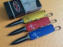 Mini Micro set online shopping - Promotion Colors Mini miCro Tech Key buckle knife aluminum Carbon fiber mini Halo V double action Folding camping bm51 bm62 C239 knife