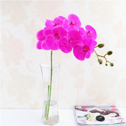 wholesale fake flowers shipped free Australia - Free Shipping Cute Simulated flowers of Artificial Fake Orchid with 7 heads Wedding Party Decorative Moth Orchid Configuration