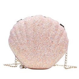 $enCountryForm.capitalKeyWord UK - Best selling Slap Up Beautiful Shell Shape Bags Bling Stylish Chains Pearl Zipper Bags Summer Dress Handbag Lady Girls One Shoulder Bag