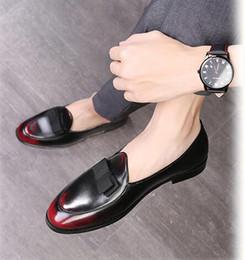 Men Slip Suits Australia - Fashion Slip-on Dress Men Shoes 2019 New Classic Men's Business Suits Shoes Fashion Flats tassel Shoes SIZE:39-48