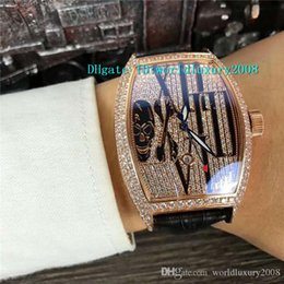 $enCountryForm.capitalKeyWord Australia - Rose Gold Full Diamond Dial Tourbillon Automatic Mens Watch Arabic numerals Calfskin Strap Sapphire Crystal Swiss Designer Watches