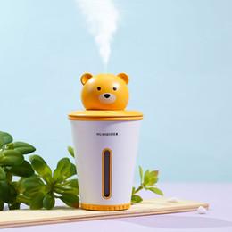 Cute bear for Car online shopping - 2019 New Arrival Cute Little Bear Humidifier Desktop Air Humidifier USB Diffuser Air Purifier For Working Office Home Bedroom Car