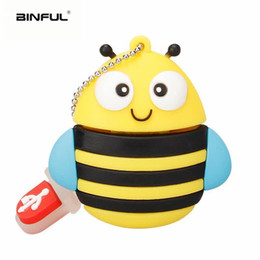 usb flash animals Australia - Brandnew new usb flash drive cartoon pen drive creative cute fox owl bee pendrive 4GB 8GB 16GB 32GB animal penguin usb memory stick gift