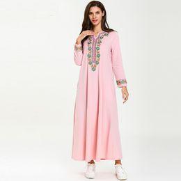 Cotton islamiC abaya online shopping - Muslim Dress Abaya Ramadan Hijab Dress Abayas For Women Turkey Qatar Caftan Marocain Elbise Robe Kaftan Dubai Islamic Clothing