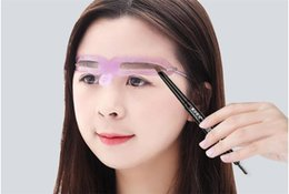 cosmetic beauty style Australia - 500lot Makeup Reusable Eyebrow Stencil eyebrow ruler Cosmetics Eye Brow Mold Styling Shaping Template Card Makeup Beauty Kit X210