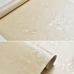 Roll White Paper Australia - 60cmx10m Luxurry Rose Flower Self Adhesive Wallpaper Roll For Bedding Living Room Modern Fashion Embossed White Vinyl Wall Paper