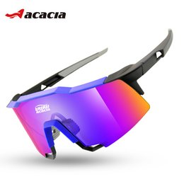 Wholesale ACACIA Unisex Cycling Eyewear Bicycle Accessory Outdoor Sport Sunglasses Polarized Glasses Big Bike Cycling Equipment