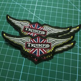iron patches shoes Australia - Motorcycles triumph biker patch for VEST IRON ON rider PATCHES APPLIQUE of CLOTHING SHOES BADGES live to ride motorcycles patches stickers
