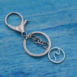 Discount surf jewelry - 1pcs Ocean Surfing Sea Wave Pendant Key Chain Nautical Jewelry