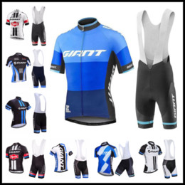 giant bicycles shirts 2019 - New Breathable GIANT team men Cycling Jerseys Short Sleeves Summer Quick dry Cycling Shirt bib shorts suit bicycle Sport
