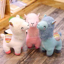 $enCountryForm.capitalKeyWord Australia - Lovely 25cm Cartoon Alpaca Plush Doll Toy Fabric Sheep Soft Stuffed Animal Plush Llama Yamma Birthday Gift for Baby Kid Children