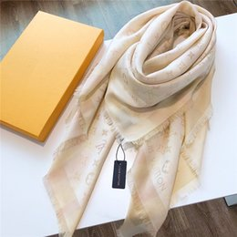 $enCountryForm.capitalKeyWord Australia - The newest brand men women's scarves fashion luxury large square of silver silk cotton thread autumn and winter warm shawl square 140*140cm
