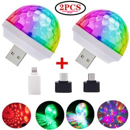 Wholesale USB Mini Disco Stage DJ Lights, Magic Ball Lights, Stage Lights, USB Port Power for Birthday Party Christmas Family KTV Wedding Show ba