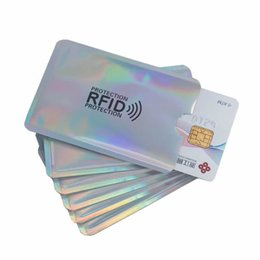 card reader locks UK - Aluminium Anti Rfid Wallet Blocking Reader Lock Bank Card Holder Id Bank Card Case Business Protection Metal Credit