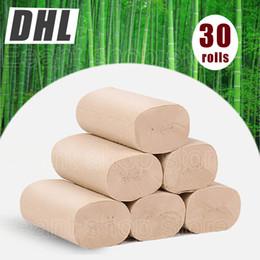 Rolo de papel SERTG Bamboo papel higiênico, sem produtos químicos, hipoalergênico pele sensível Tissue Zero Árvores Resíduos Natural Eco-friendly Bath em Promoção