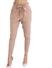 $enCountryForm.capitalKeyWord Australia - 2019 New Brand High Elastic Waist Harem Pants Women Spring Summer Fashion Ninth Pants Female Office Lady Black Trousers Belt