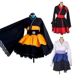 Wholesale robes costumes for sale - Group buy Naruto AKATSUKI Uzumaki Naruto Cosplay Costume Lolita Dresses Kimono Robe Women Men Anime Cosplay Halloween Party Uniforms