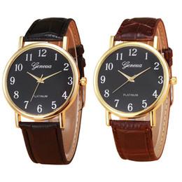$enCountryForm.capitalKeyWord Australia - Dress Simple Unisex Neutral Clock Men Women Geneva Leather Band Hour Auto Date Buckle White&Black Bracelet Quartz Watch
