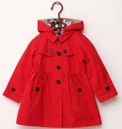 Ingrosso nuovo abbigliamento per bambini ragazza primavera e autunno principessa cappotto di colore solido medio-lungo monopetto trench babyswear tuta sportiva B11