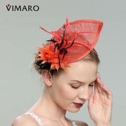 32da43f4 wholesale Orange Hair Fascinators Hats For Women Elegant Fascinators For Weddings  Hats And Fascinators Hair Accessories Headbands