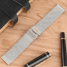 $enCountryForm.capitalKeyWord Australia - Watch Band 2019 New Arrivals Stainless Steel Strap Silver 20MM 22MM Fahion Casual Wristwatch Band for Men Women