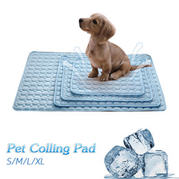 $enCountryForm.capitalKeyWord Australia - Summer Cooling Mats Blanket Ice Pet Bed Sofa Portable Tour Camping Yoga Sleeping Mats For Dogs Cats Cushion Pet Accessories