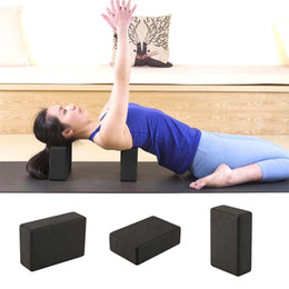 Black Blocks Australia - 23*15*8cm Practice Gym Sport Yoga Block Brick Foaming Foam Home Exercise Fitness Tool 2018 Hot Dropshipping C19040401