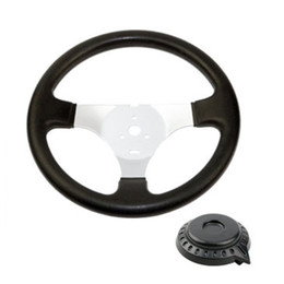buggies parts Australia - 300MM Gas Go Kart steering wheel PVC racing Off Road Cart type High quality universal For Chinese 110cc Taotao Buggy Quad Parts