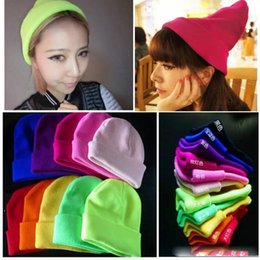 $enCountryForm.capitalKeyWord Australia - GD Street Dance Wool Hat Women And Men Tide Harajuku Fluorescent Headgear Pure Colors Fall and Winter Sweet Knitted Hat 28 Colors