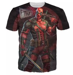 plus size quick dry clothing NZ - New Fashion Mens Womans Clothing Deadpool The Marvel Comic 3D Print Casual T-Shirt Summer Style Tees Hip Hop Quick Dry Tops Plus Size